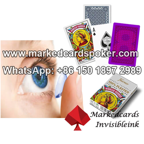 invisible ink contact lenses for infrared marked cards